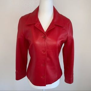 Laundry soft lamb skin leather jacket